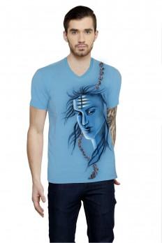 Hand-painted Heroic Shiva Blue T-shirt – Rang Rage
