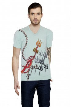 Hand-painted Shiva's Bolt T-shirt – Rang Rage