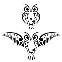 maori-owl-tattoo.jpg (1000×1000)