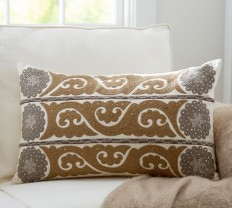 Wilhelmina Embroidered Suzani Pillow Cover | Pottery Barn