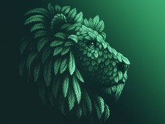 Mint Lion by Sergey Kovalenko - Dribbble
