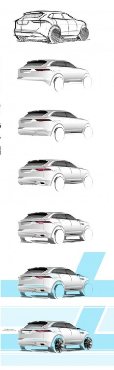 Jaguar SUV sketch on Behance | SKETCH | Pinterest