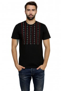 Hand-painted Lebanese Allure Black T-shirt – Rang Rage