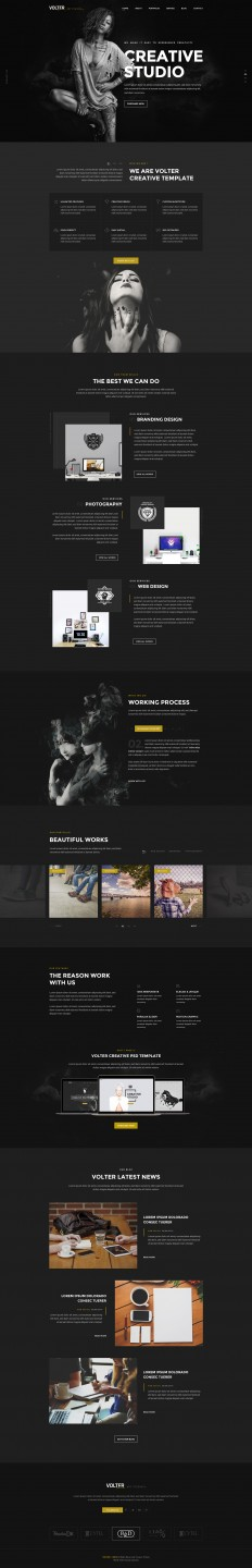 Volter - Creative PSD Template on