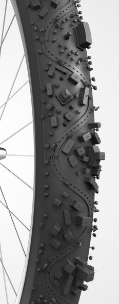 Bike City, illustrazione 3D | DIGITAL ART | Pinterest