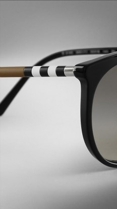 Check Detail Cat-Eye Sunglasses | Burberry | Industrial Design Inspiration | Pinterest