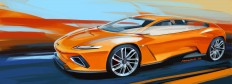 Italdesign GTZero Concept Design Sketch Illustration Render - Car Body Design