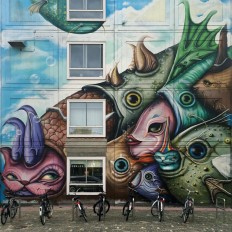 Fish & Bikes – Street Art On Inspirationde