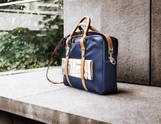 Navy and Tan Cary Briefcase by Stuart & Lau » Review