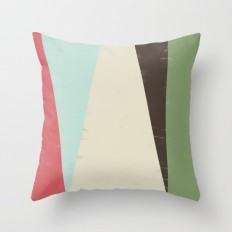 HERE VI Throw Pillow by Metron | Society6