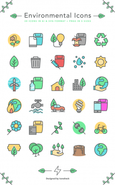 Freebie: Environmental Icons (AI, SVG, PNG) | Codrops
