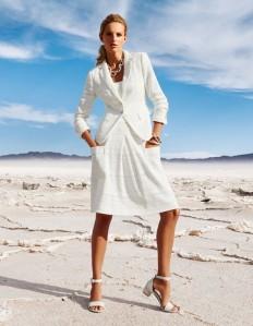 Knielanger Faltenrock mit Taschen in der Farbe wollweiß - elfenbein - weiß - im MADELEINE Mode Onlineshop