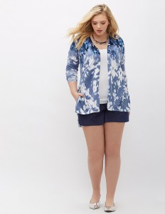 Printed Open Cardigan | Lane Bryant