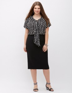 Infinite Stretch High-Waist Midi Pencil Skirt | Lane Bryant