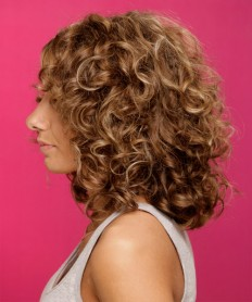 medium curly hairstyle side view photo - AsuSha