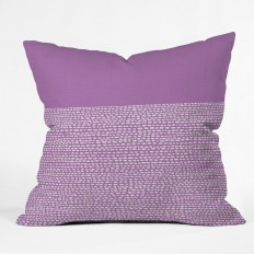 Jacqueline Maldonado Riverside Radiant Orchid Throw Pillow | DENY Designs Home Accessories