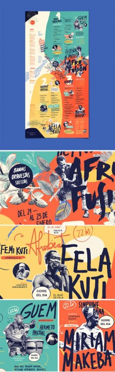 AFRO FUSION FESTIVAL on Behance | Graphic Design | Pinterest