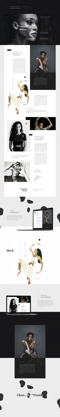 Chantelle Winnie Personal Website on
