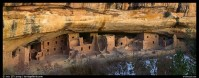Panoramic Picture/Photo: Spruce Tree House under rock overhang. Mesa Verde National Park