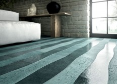 Wave – Sea-Green Wood Flooring By Cora Parquet - InteriorZine