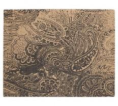Paisley Printed Natural Fiber Rug - Black | Pottery Barn
