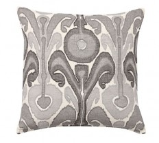 Kenmare Ikat Embroidered Pillow Cover | Pottery Barn