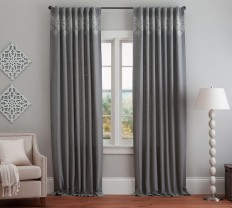Lucia Embroidered Drape | Pottery Barn