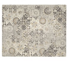 Talia Printed Rug - Gray | Pottery Barn