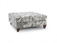 Homeware Living Room Stella Ottoman - Zinc HW101-06-158ZIN22E