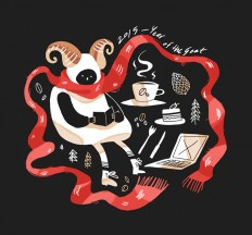 Chinese Year of the Goat / Coffee packaging on Inspirationde