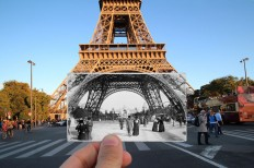 Julien Knez Combines Old And New Photos Of Paris