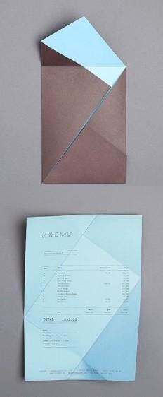 folding receipt, Maaemo identity by Bureau Bruneau - Casual Crafter