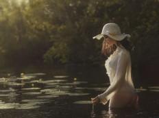 Photograph Girl and river by David Dubnitskiy on 500px | Naturey | Pinterest