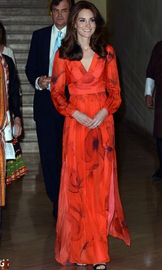 Kate Middleton pays tribute to Bhutan with her orange Beulah gown