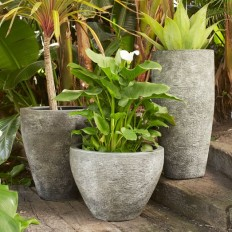 Ridged Stone Planters | west elm
