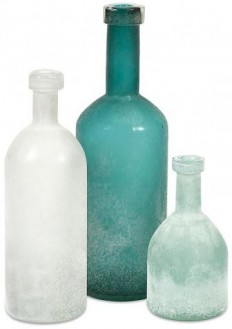 Kellen Glass Bottles - Set of 3 - Hand-blown Glass Bottles | HomeDecorators.com