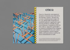 Enea's brand identity and art direction on