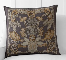 Lara Applique Embroidered Pillow Cover | Pottery Barn