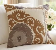 Metallic Suzani Pillow Cover | Pottery Barn