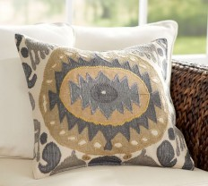Nadia Ikat Pillow Cover | Pottery Barn