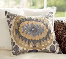 Nadia Ikat Pillow Cover | Pottery Barn