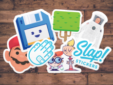 "Slap! Stickers | ""Sticker Mockup"" by Rocky Roark"