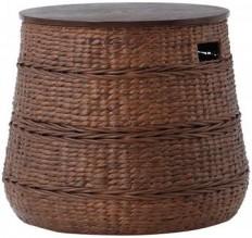 Kerala Storage End Table - Rattan Side Table   HomeDecorators.com