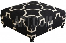 Intersect Low Ottoman - Charcoal Home Accessories at Art.com