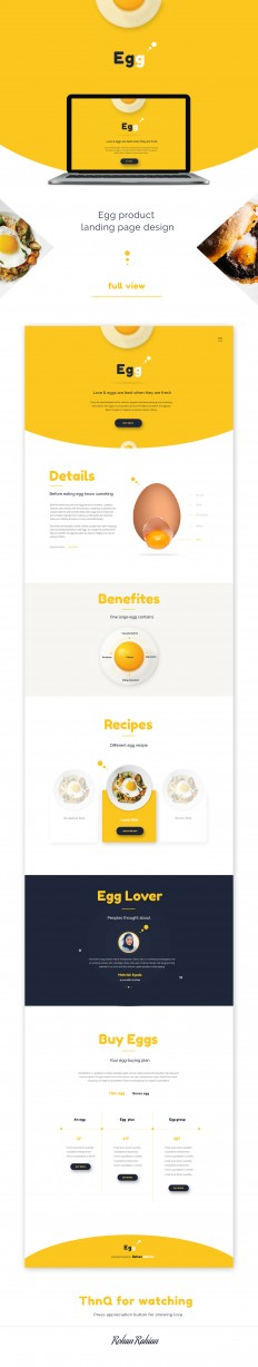 egg - Product landing page on