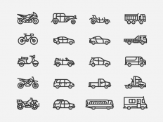 Vehicle Icons by Daniel Haire - Dribbble