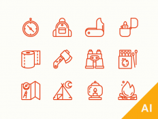 Freebie Camping Icons | Best PSD Freebies