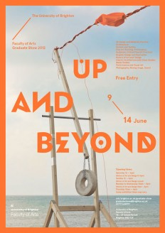 Up and Beyond – University of Brighton's 2012 Graduate Show - Fonts In Use