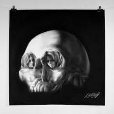 white charcoal portrait - Pesquisa Google