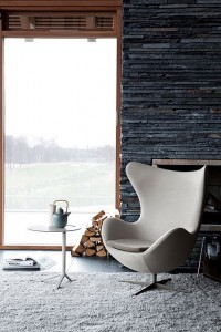 Modern interior with fireplace and a country view | Murray Mitchell